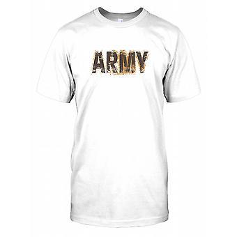 Exército - forças armadas coberto de lama crianças T camisa