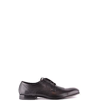 Doucal's Ezbc089031 Men's Black Leather Lace-up Shoes