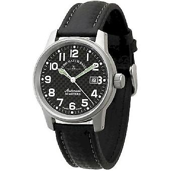 Zeno-klocka mens watch classic carbon automatisk 6554-s1