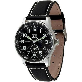 Zeno-watch mens watch X-large pilot + dual-time P561-a1