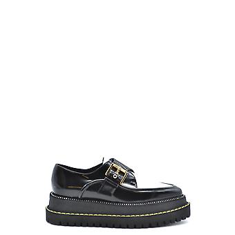 N°21 Ezbc100007 Dames's Black Leather Loafers