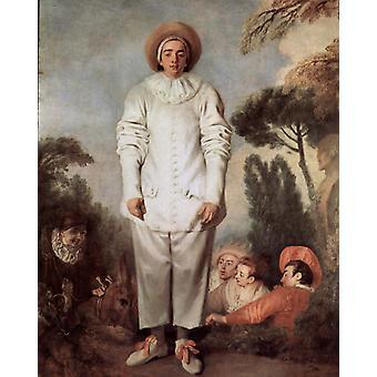 Gilles, Jean-Antoine Watteau, 50x40cm