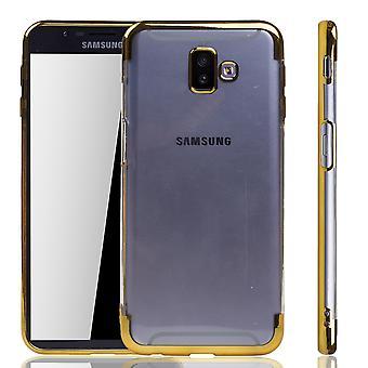 Étui de téléphone pour Samsung Galaxy + plus or-Clear-TPU silicone cas backcover étui de protection en transparent/brillant bord or