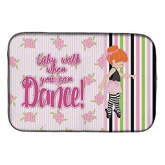 Carolines tesori BB5399DDM balletto danza strisce capelli rossi piatto essiccazione Mat