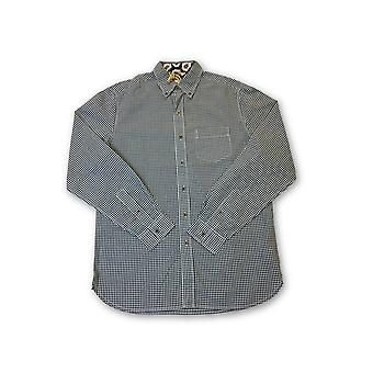 Tailor Vintage shirt in grey icro check