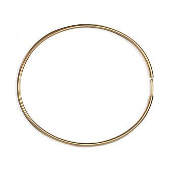 Jonc vergulde top gouden armband aan de zijkant 60mm dikte 4x2mm