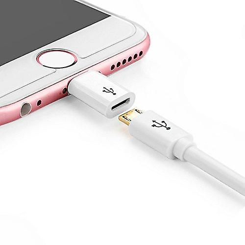 USB-Micro Till Lightning Adapter (Vit)