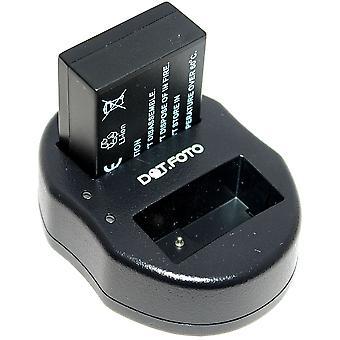 Dot.Foto Panasonic DMW-BLC12, DMW-BLC12E, DMW-BLC12PP remplacement batterie + chargeur USB double
