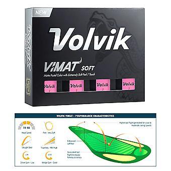 Volvik Vimat Soft Low kompresja piłki golfowe-kilkanaście różowy