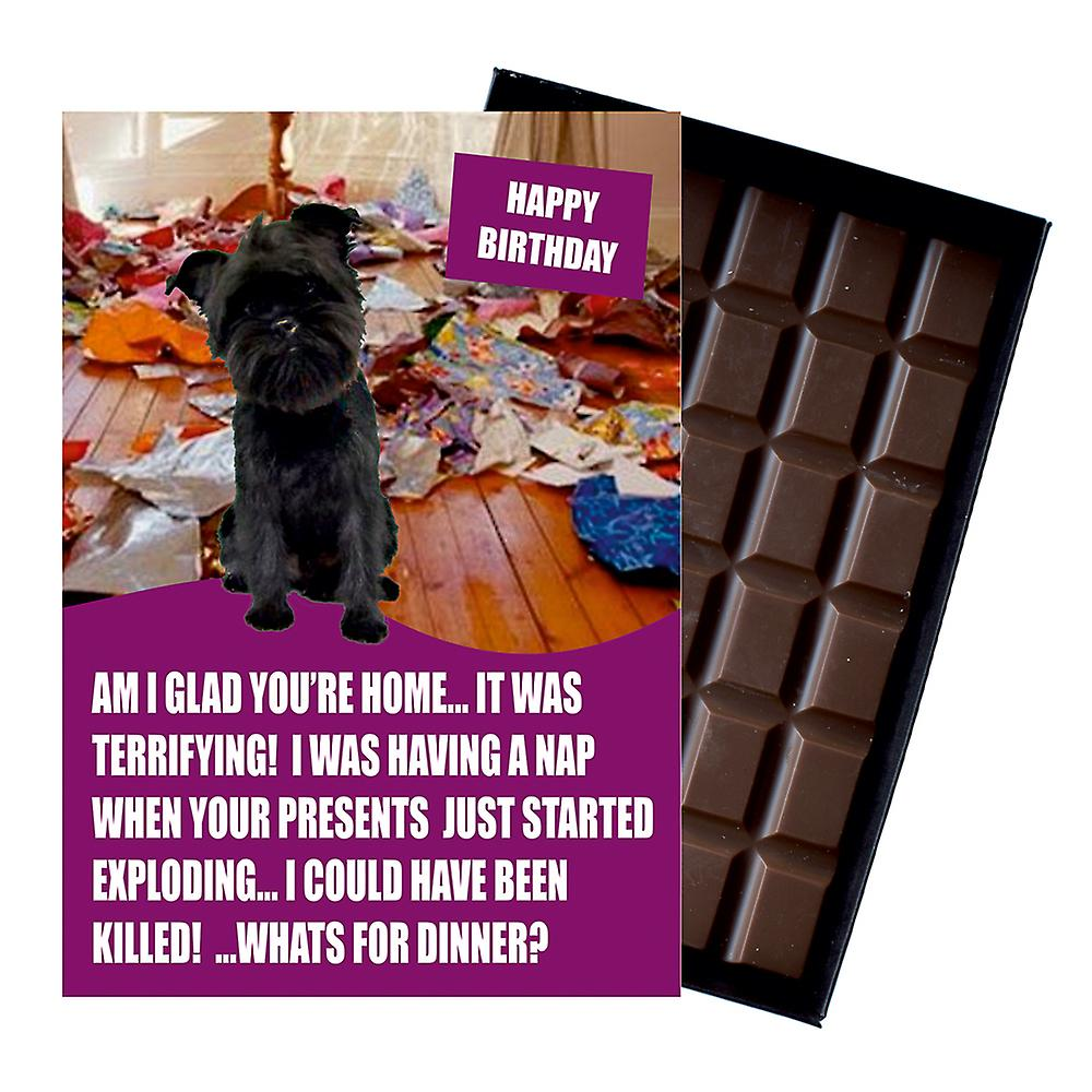 Affenpinscher Funny Birthday Gifts For Dog Lover Boxed Chocolate Greeting Card Present