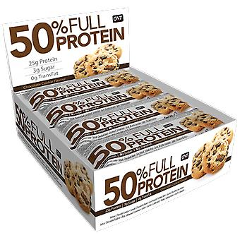 QNT 50% Full Protein Bar mantendo massa muscular (chocolate cookie) 12 X 50g