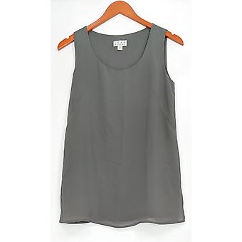 Joan Rivers Classics Collection mulheres ' s Top (XXS) crepe Tank Gray A276502