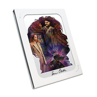 Tom Baker signiert Dr Who Silhouette Poster In Geschenkbox