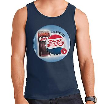Pepsi Cola Retro big Glass Men's Weste