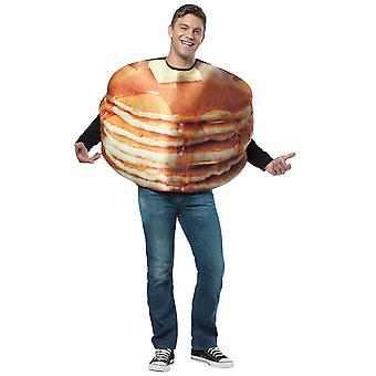 Get Real Stacked Pancakes Pikelets Breakfast Food Womens Men Costume OS