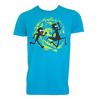 Rick And Morty Men's Blue Swirl T-Shirt
