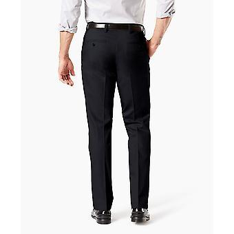 Dockers Men's Straight Fit Signature Khaki Pant D2, Black, Black, Size 33W x 30L
