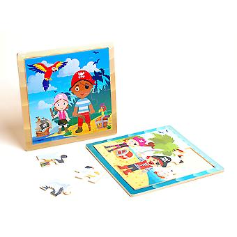 Pirate Adventure Wooden Jigsaw Puzzle Children Kids Toy Age 18m +