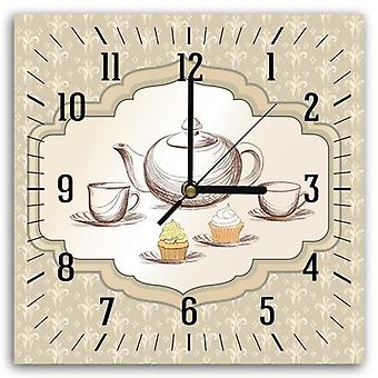 Decorative Clock With Picture, Tea