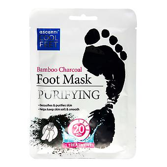 Escenti koele voeten Voetmasker sok ~ bamboe houtskool