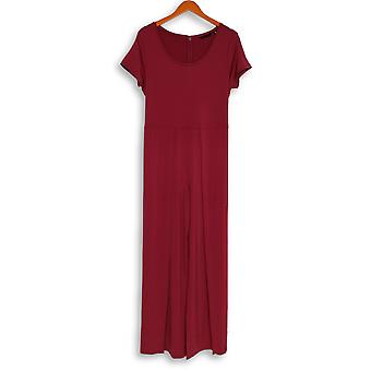 H by Halston Jumpsuits Jet Set Jersey Tie-Front Maroon A308106