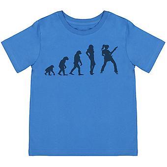 Evolution To A RockStar Girl - Kids T-Shirt