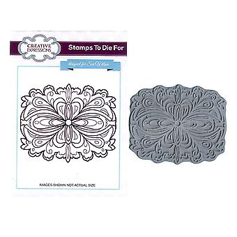 Creative Expressions Pre-Cut Rubber Stamp Sue Wilson UMS592 Spiral Sunset