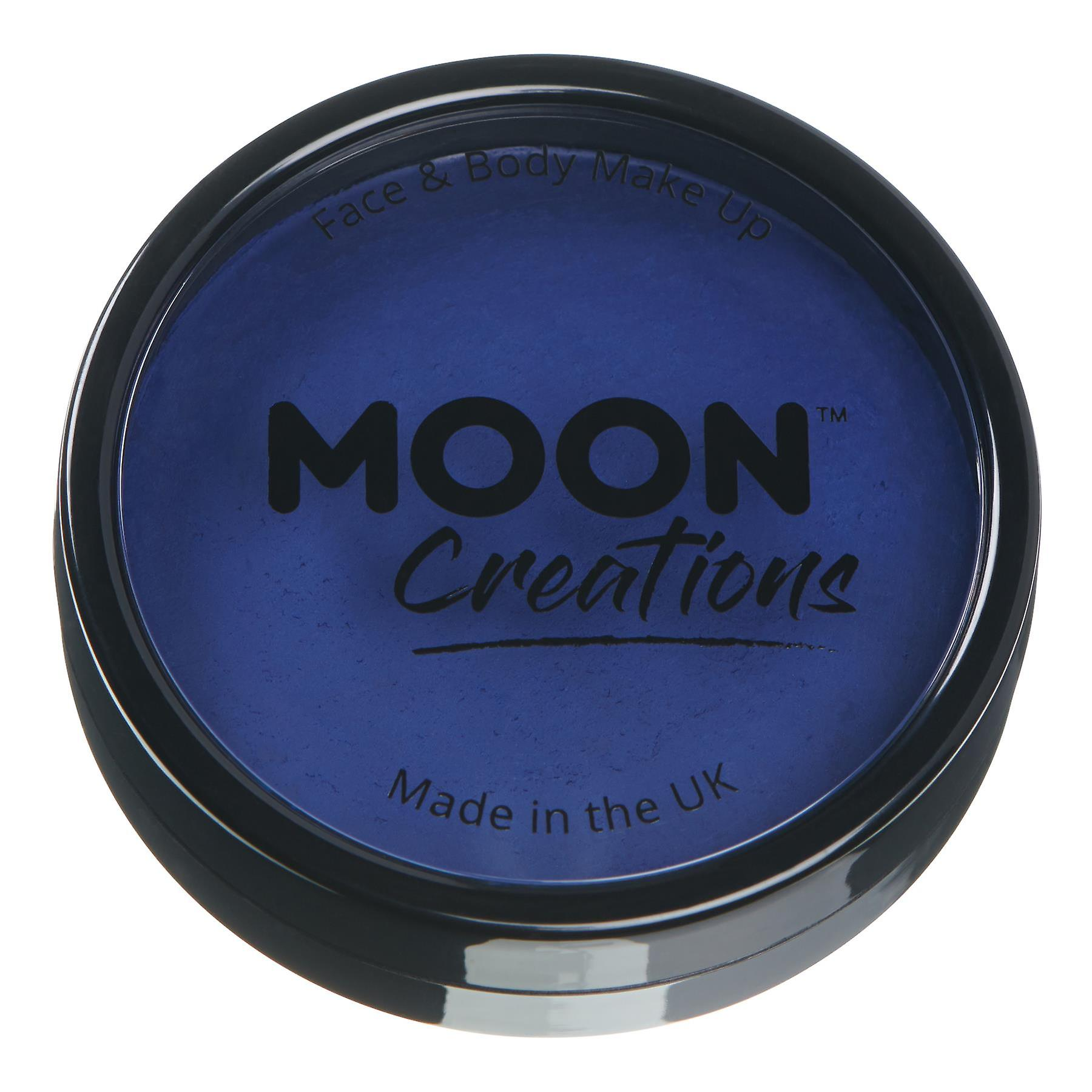 Moon Creations - Pro Face & Body Paint Cake Pots - Dark Blue