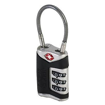 Lewis N. Clark Travel Sentry TSA Cable Lock 3-Dial Combination, Brand New #TSA40