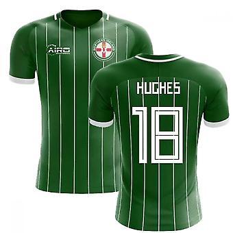2020-2021 أيرلندا الشمالية مفهوم المنزل لكرة القدم قميص (هيوز 18)