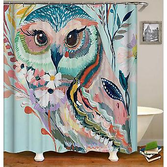 Art Painting Owl Shower Curtain