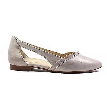 Paul Green 2313-00 silver nubuck läder kvinnor slip på skor