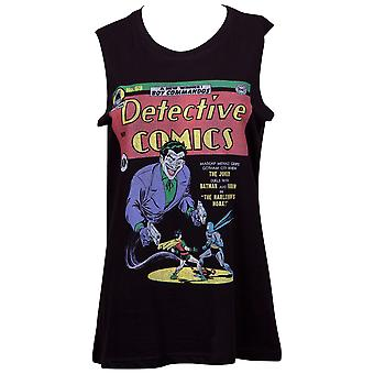Joker Detective Comics Women's Black Venice Beach Tank Top