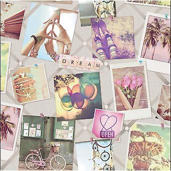 Instadream Wallpaper Imagen Collage Palabras Polaroid Vintage Pastel Holden