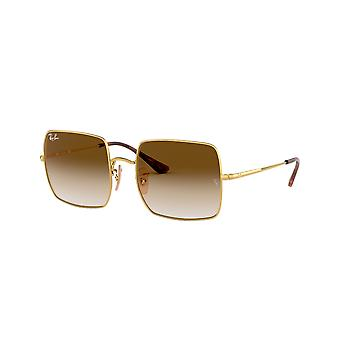 Ray-Ban Square RB1971 914751 Gold/Clear Gradient Brown Sunglasses