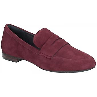 Rockport Total Motion Tavia Ladies Suede Loafers Maroon
