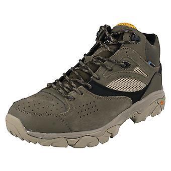 Herre HI-TEC lace up vandtæt Walking støvler Nouveau Traction Mid WP