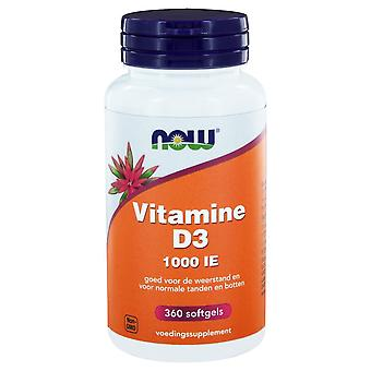 Vitamine D3 1000 IE (360 softgels) - NOW Foods