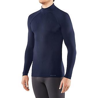 Falke Polo Neck långärmad skjorta-mörk natt Marinblå