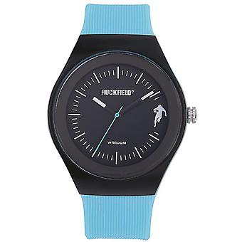 Watch Ruckfield 685062 - Analog Bo tier Silicone Blue Plastic Bracelet Blue Black Dial