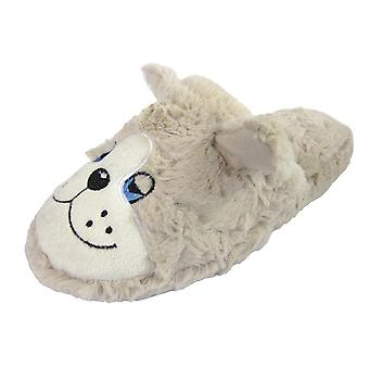 Coolers Womens Dozy Dog Fleece Design Mule Slippers