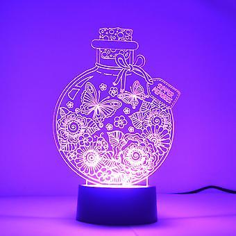 Sommergemoryeren in einer Flaschenfarbe, die LED-Acryllicht wechselt