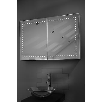 Hestia LED salle de bains Cabinet avec Dévésiculeur Pad, capteur et Shaver K371