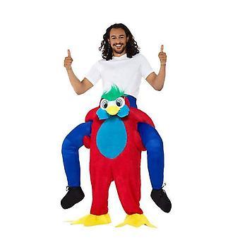 Piggyback Parrot Costume Adult Multi