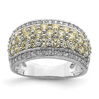 925 Sterling Silber Rhodium vergoldet gelb und weiß CZ Zirkonia simuliert Diamant Fancy Ring Schmuck Geschenke für Wom
