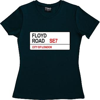 Charlton Athletic: Floyd Road SE7 Road Sign Navy Blue Women's T-Shirt