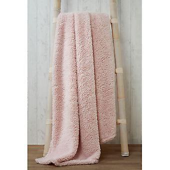 Snuggle beddengoed Teddy fleece deken gooien 150cm x 200cm-roze