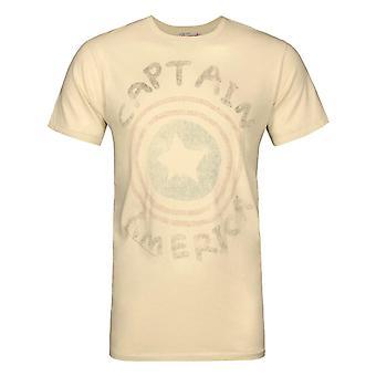 Junk Food Originals Captain America Logo Men-apos;s T-Shirt