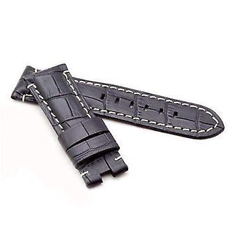 Крокодил зерно телячья кожа ремешок для часов черный ремешок премиум-класса для панерай® от 22 мм до 24 мм