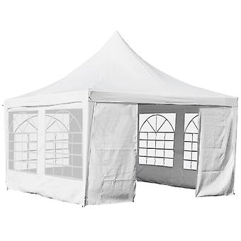 Outsunny 3.6 x 3.6m Garden Gazebo Marquee Party Tent Wedding Canopy - White